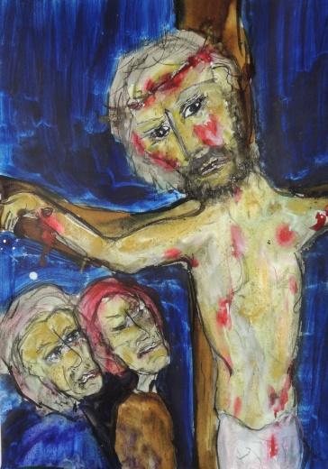 maria bij het kruis